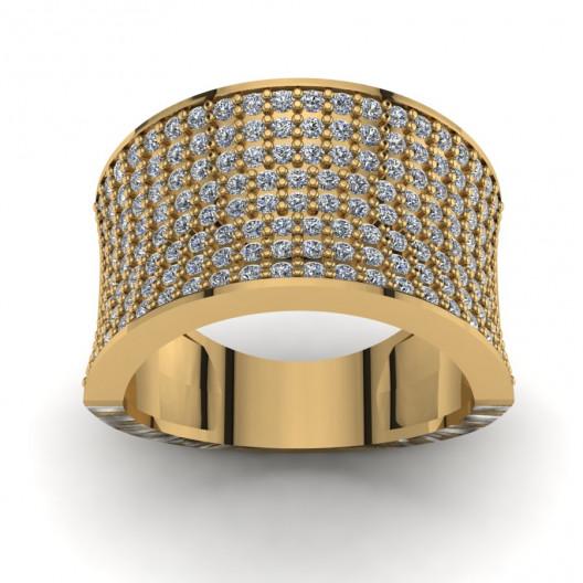 Złoty pierścionek z brylantami o masie 0,79ct PZ-205