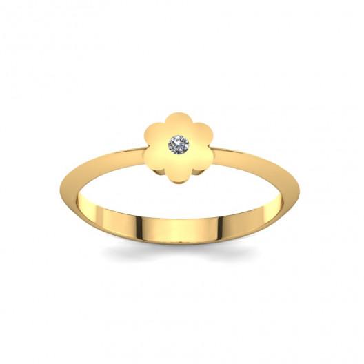 Złoty pierścionek z brylantem 0,015ct PZ-214