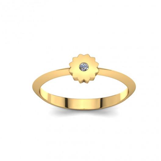 Złoty pierścionek z brylantem 0,015ct PZ-215