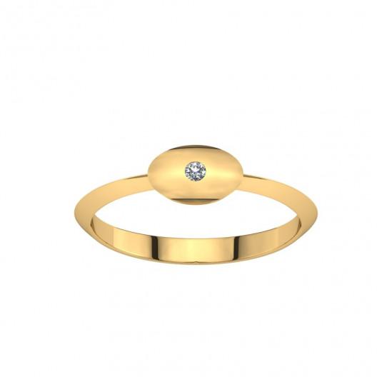 Złoty pierścionek z brylantem 0,015ct PZ-217