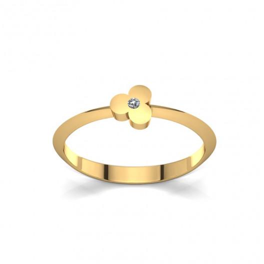 Złoty pierścionek z brylantem 0,015ct PZ-080