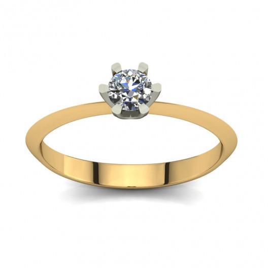 Złoty pierścionek zaręczynowy z brylantem 0,23ct PZ-072
