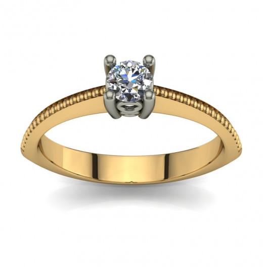 Złoty pierścionek zaręczynowy z brylantem 0,23ct PZ-073