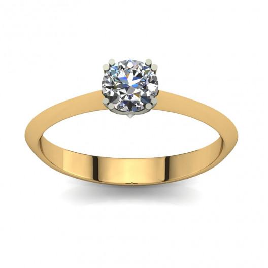 Złoty pierścionek zaręczynowy z cyrkonią PZ-066C