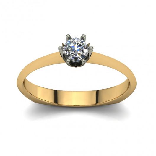 Złoty pierścionek zaręczynowy z cyrkonią PZ-068C