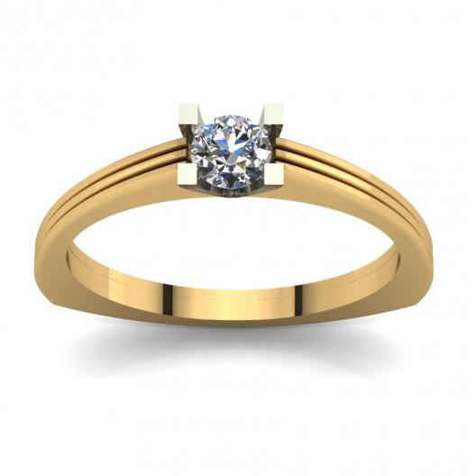 Złoty pierścionek zaręczynowy z cyrkonią PZ-069C