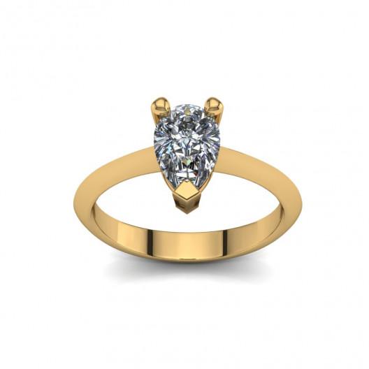 Złoty pierścionek zaręczynowy z cyrkonią PZ-079C