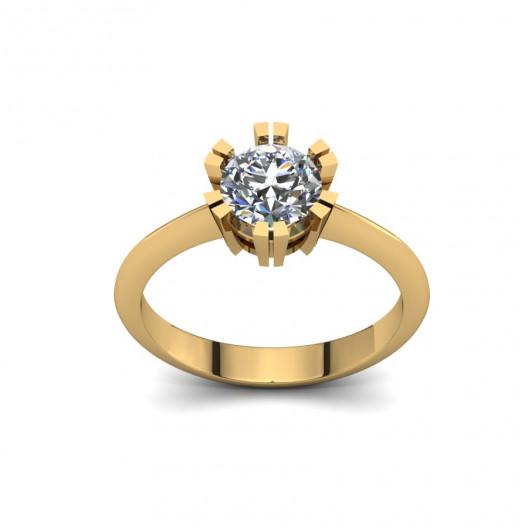 Złoty pierścionek zaręczynowy z cyrkonią PZ-083C