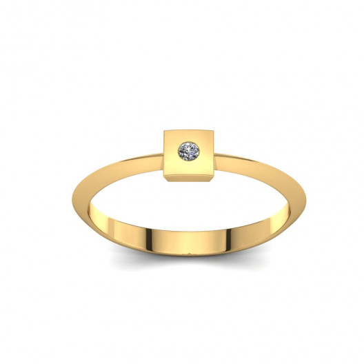 Złoty pierścionek z cyrkonią PZC-216