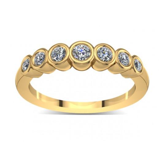 Złoty pierścionek zaręczynowy z cyrkoniami PZ-031C