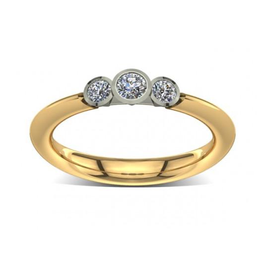 Złoty pierścionek zaręczynowy z cyrkoniami PZ-033C