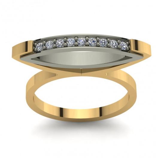 Złoty pierścionek zaręczynowy z cyrkoniami PZ-056C