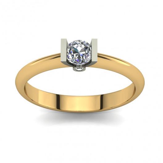 Złoty pierścionek zaręczynowy z cyrkoniami PZ-071C