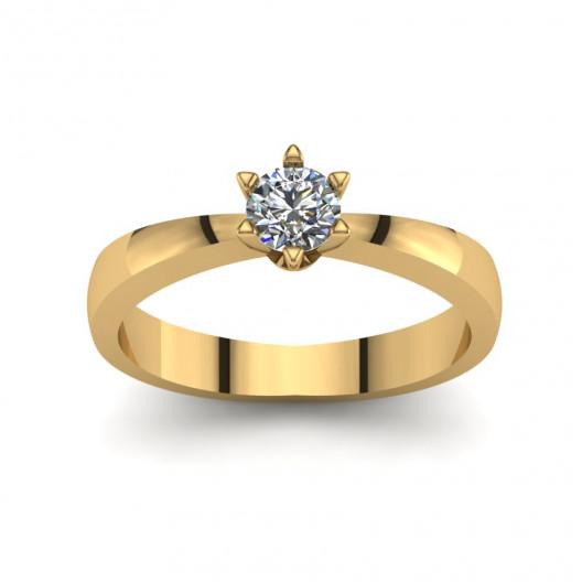 Złoty pierścionek zaręczynowy z cyrkonią PZ-203C
