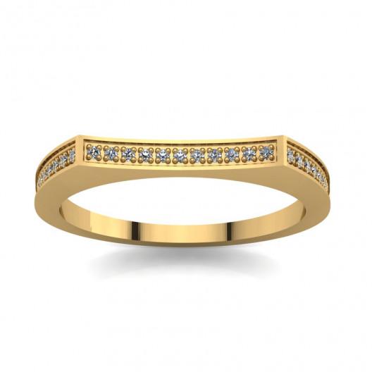 Złoty pierścionek zaręczynowy z cyrkoniami PZ-060C