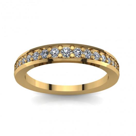 Złoty pierścionek zaręczynowy z cyrkoniami PZ-064C