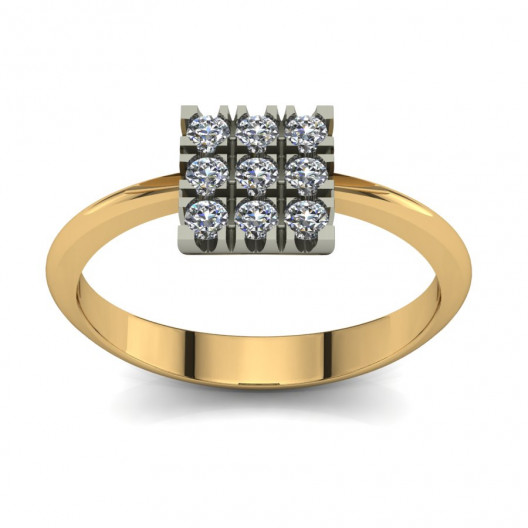 Złoty pierścionek zaręczynowy z cyrkoniami PZ-076C