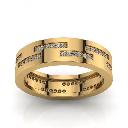 Złoty pierścionek z brylantami 0,2 16ct PZ-172