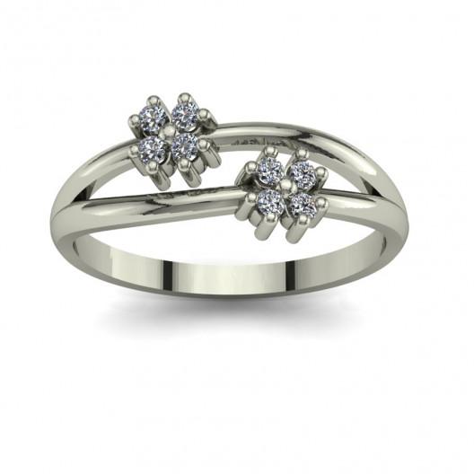 Złoty pierścionek zaręczynowy z brylantami 0,16ct PZ-100