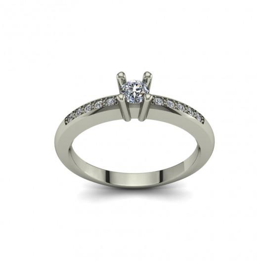 Złoty pierścionek zaręczynowy z brylantami 0,17ct PZB-091