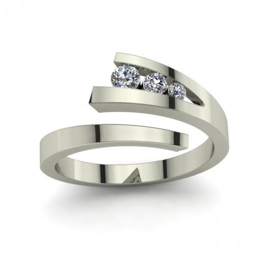 Złoty pierścionek zaręczynowy z brylantem 0,19ct PZB-143