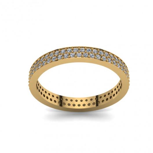 Złoty pierścionek zaręczynowy z brylantami 0,3ct PZ-087
