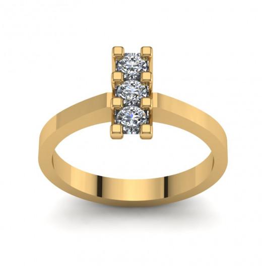 Złoty pierścionek zaręczynowy z brylantami 0,3ct PZ-125