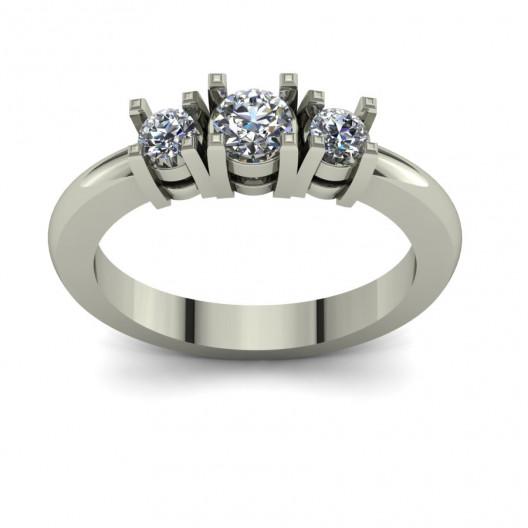 Złoty pierścionek zaręczynowy z brylantami 0,43ct PZ-105