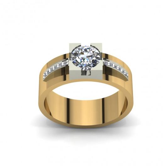 Złoty pierścionek zaręczynowy z brylantami 0,536ct PZ-088