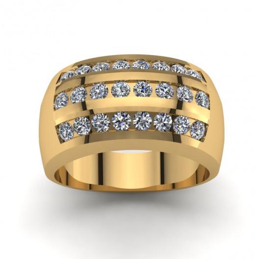 Złoty pierścionek zaręczynowy z brylantami 0,72ct PZ-127