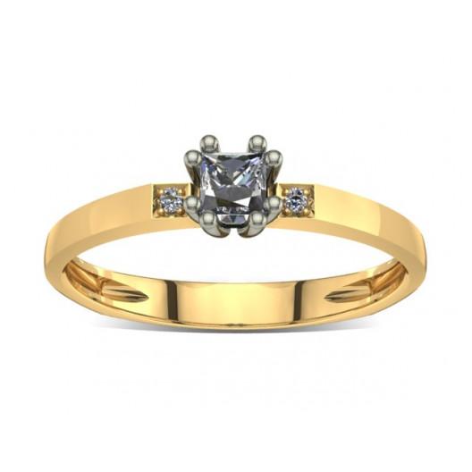 Złoty pierścionek zaręczynowy z brylantami 0,18ct PZ-023