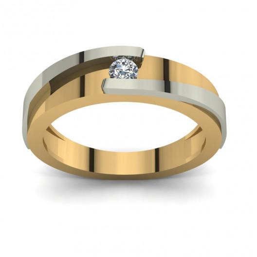 Złoty pierścionek zaręczynowy z brylantami 0,1ct PZ-102