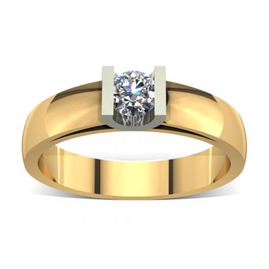 Złoty pierścionek zaręczynowy z brylantem 0,23ct PZ-010