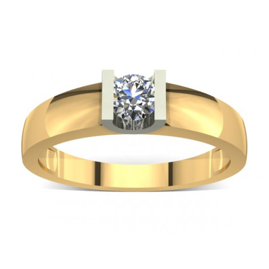 Złoty pierścionek zaręczynowy z brylantem 0,23ct PZ-011