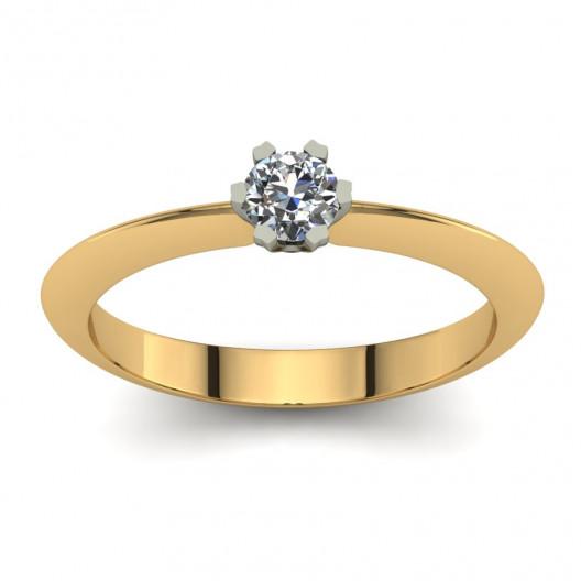 Złoty pierścionek zaręczynowy z cyrkonią PZ-198-4C