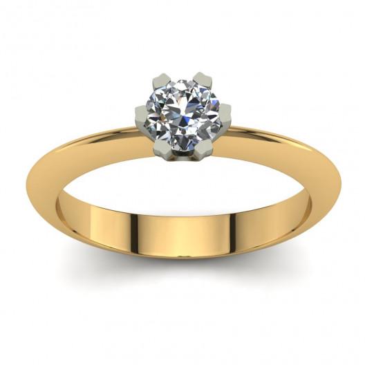Złoty pierścionek zaręczynowy z cyrkonią PZ-198-5C