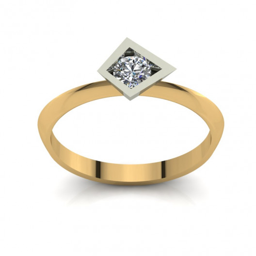 Złoty pierścionek zaręczynowy z cyrkonią PZ-208C