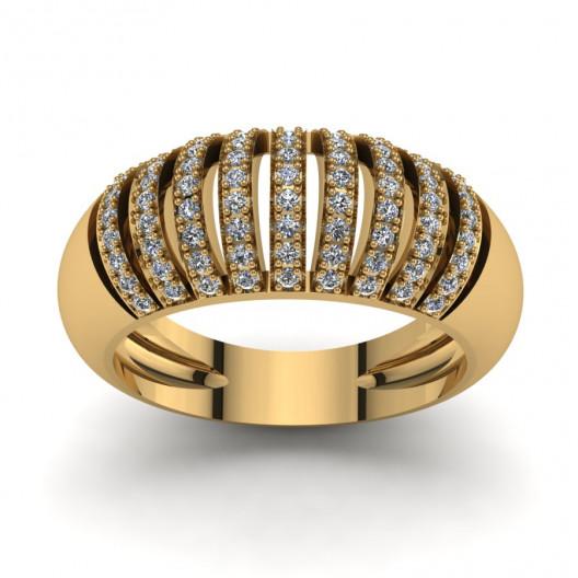 Złoty pierścionek zaręczynowy z cyrkoniami PZ-123C