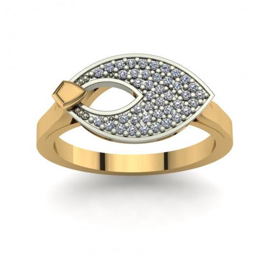 Złoty pierścionek zaręczynowy z cyrkoniami PZ-141C