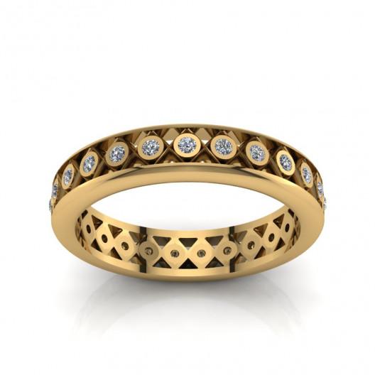 Złoty pierścionek  z cyrkoniami PZ-161C