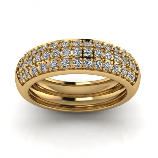 Złoty pierścionek zaręczynowy z cyrkoniami PZ-166C