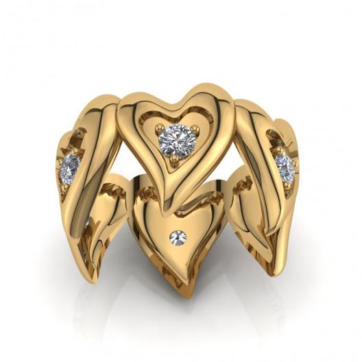 Złoty pierścionek z cyrkoniami PZ-191C