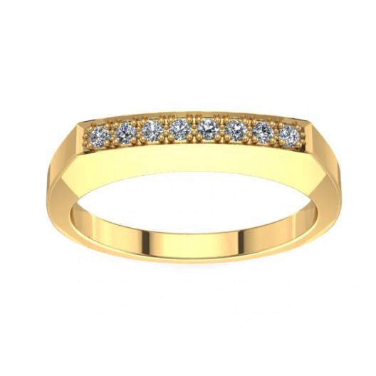Złoty pierścionek zaręczynowy z cyrkoniami PZ-001C