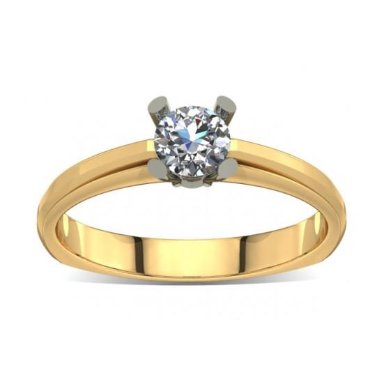 Złoty pierścionek zaręczynowy z cyrkonią PZ-006C