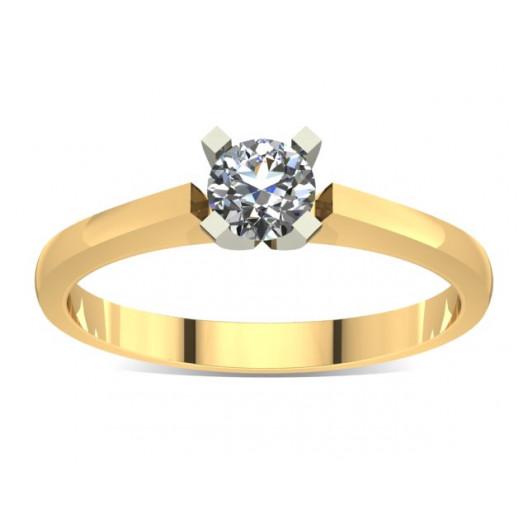 Złoty pierścionek zaręczynowy z cyrkonią PZ-008C