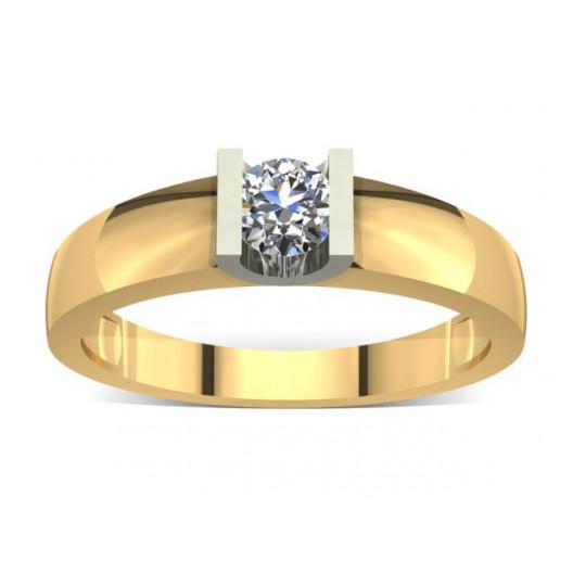 Złoty pierścionek zaręczynowy z cyrkonią PZ-011C