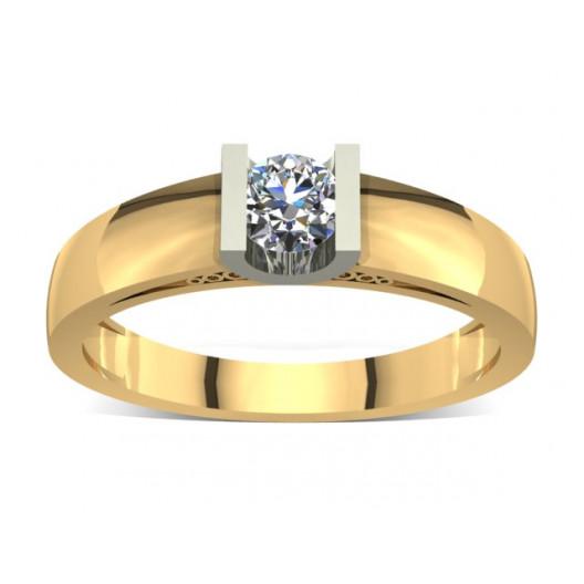 Złoty pierścionek zaręczynowy z cyrkonią PZ-012C