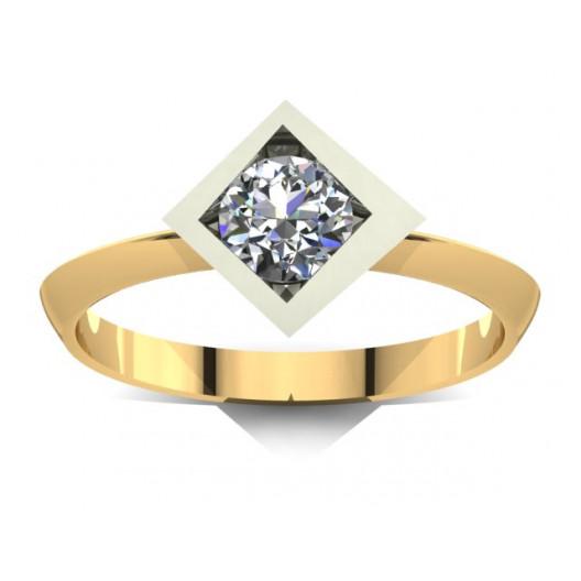 Złoty pierścionek zaręczynowy z cyrkoniami PZ-016C
