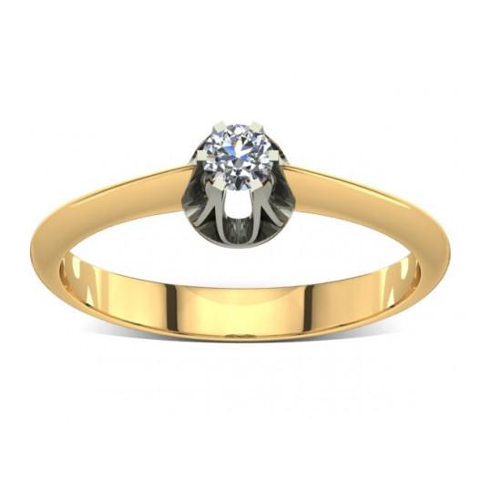Złoty pierścionek zaręczynowy z brylantem 0,1ct PZ-017