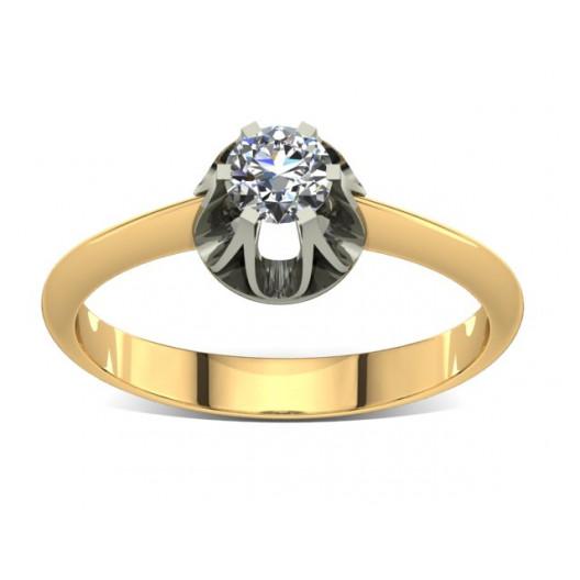 Złoty pierścionek zaręczynowy z cyrkoniami PZ-018C